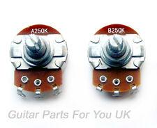 Telecaster Pot Set 250K Full Size Pots 15 mm arbre Guitare Electrique UPGRADE