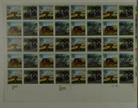 US SCOTT 2434 - 37 PANE OF 40 MAIL TRANSPORTATION STAMPS 25 CENT FACE MNH