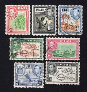 Fiji 1938-55 7 stamps used