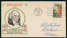 US 1959 James Madison Beck 4th President Cover wwi15283