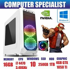 ULTRA EQUIPO DE JUEGO RÁPIDO PC INTEL QUAD CORE i7 4770 @ 3,40 GHz 16GB DDR3 RAM