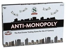 Anti-Monopoly Board Game , New, Free Shipping