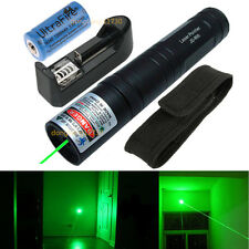 Military Power Green 1MW 532nm Laser Pointer Pen Lamp Beam Focus + 16340 battery