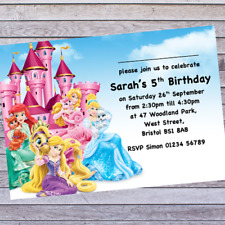 .KIDS PRINCESS BIRTHDAY PARTY INVITATIONS - includes 12 PERSONALISED INVITES