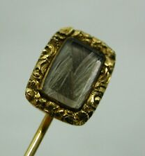 Antique William 111 Beautiful 15ct Gold Hair Locket Mourning Pin