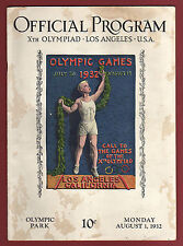 Orig.PRG   Olympic Games LOS ANGELES 1932  -  01.08.1932  !!  EXTREM RARE