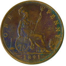 1891 ONE PENNY / QUEEN VICTORIA / GREAT BRITAIN VERY NICE   #WT12602