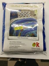 Olive Kids Trains, Planes, Trucks Twin Comforter Set, New, Free Shipping