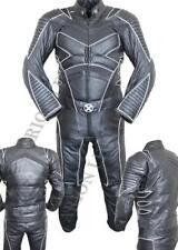 Trajes de cuero color principal negro paramida para motoristas