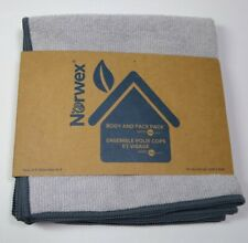 New Norwex Body Face Cloth Pack Set of 3 Light Grey With Slate Trim