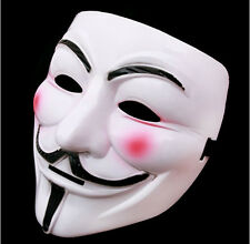 V For Vendetta Anonymous Guy Fawke Movie Face Mask Halloween Masquerade Cosplay