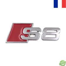 Logo Embleme Badge S8 Audi Coffre Hayon A8 RS8  QUATTRO S-LINE Rouge
