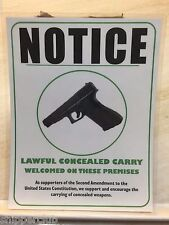"""2 x"""" GUN SUPPORT NOTICE """" signs w/ water proof laminate Customize Letter size"""