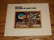 Original 1977 Pontiac Full Line Sales Brochure 77 Firebird Grand Prix
