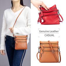 100% Genuine Leather Women's Messenger Shoulder Bag Multi-pocket Crossbody Bag