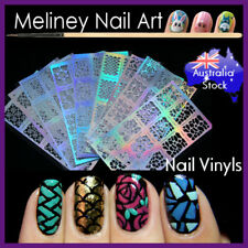 Nail art vinyl stencil stickers Manicure Holographic Decals hollow sheet