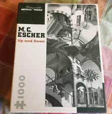 Pomegranate Art Piece Puzzle M.C. Escher Up and Down 1000 Piece Jigsaw B&W