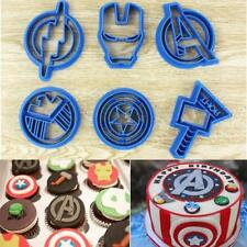6x Super Hero Marvel Avengers Cookie Cutter Sugarcraft Cake Decoration Marvel C
