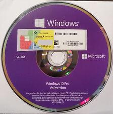 Microsoft Windows 10 Professional 64 Bit DVD und Aufkleber für OEM Deutsch
