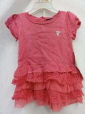 Guess Baby Girl's Knit Ruffled Dress & Bloomers, Pink, 12M