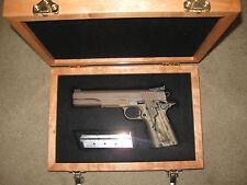 NEW CUSTOM  WOOD PISTOL GUN CASE FOR - COLT 1911, PYTHON,  SAA, SMITH, RUGER  ,