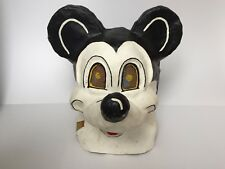 Vintage Paper Mache Mask Head Mouse Not Disney Mickey Hand Made Wow Rare!