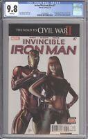 Invincible Iron Man #7 CGC 9.8 (Marvel 2016) 1st Riri Williams - Brian M Bendis