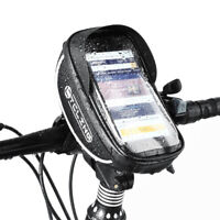 MTB Bike Front Frame Touchscreen Phone Bags Bicycle Top Tube Pannier Bags