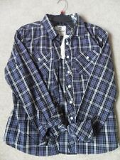 "MENS TIMBERLAND NAVY BLUE BLACK MIX CHECK LONG SLEEVE SHIRT XS 34-36"" RRP £122"