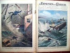 64) 1931 INCIDENTE AD ANGERA (VA) E TROMBA D'ARIA A CASALE DOMENICA DEL CORRIERE
