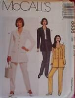 8636 Vintage McCalls SEWING Pattern Misses Career Jacket Pants OOP SEW FF UNCUT