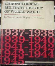 Chronological Military history world war ww II 2 DUPUY US army 1965 1937 1945