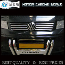 VW TRANSPORTER T5, CHROME GRILLE COVERS, ACCENT TRIM STRIPS, 03-09, S.STEEL 8pcs
