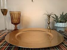 "Set of 8 - Gold Plate Charger 8 x 13"" - Wedding - Home Decor - Table Setting"