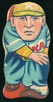 1930-40's Menko Keio Uni BIG 6 Baseball Vintage Japanese Card Diecut Drawing