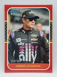 2020 Panini Donruss Racing - Red #d 295/299 - JIMMY JOHNSON -