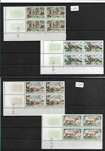 SMT 139, SPM  ANIMALS LUXURY set  of 4 stamps in block of 4, MNH very rare
