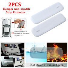 2x Car SUV Widening White Bumper Antiscratch Strip Body Corner Mirror Protector