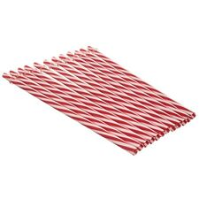 Re-usable Straws Red/White Stripped 24 pack plus FREE cleaning brush