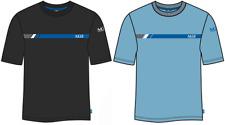 Map Camiseta Gráfico Negro y Azul Algodón Pesca en Agua Dulce Ropa -