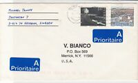Sweden 1983 Two Priority Stickers Goteborg Cancel Stamp Cover to U.S.A ref 22110