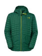 North Face Mens Green Hooded Jacket, Large