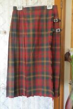 Plaids & Checks Wool Pleated Skirts for Women