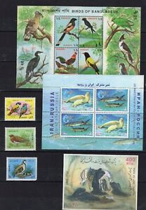 4 sets of Birds / Marine Fauna / Art on  stamps MNH** C10