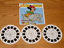 RARE Vtg GAF Mickey Mouse '' Le Valeureux Tailleur'' View Master Reels, Booklet
