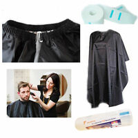Waterproof Barber Apron Salon Cape Gown Hairdressing Hair Cutting Black Unisex