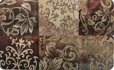 """ANTI FATIGUE KITCHEN CUSHION MAT (18""""x30"""") (Not PVC) FLOWERS IN SQUARES, SS"""