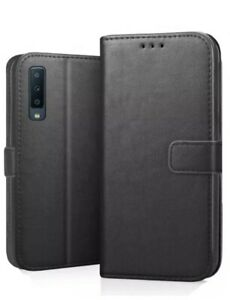 Leather Wallet Case Cover + Stand For Samsung Galaxy A7 2018