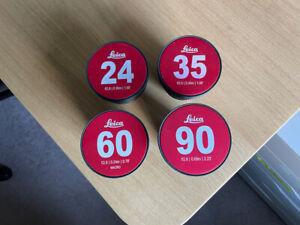 Leitz Wetzlar Leica R Cine-Modded EF Lens Set