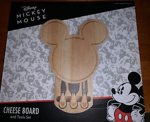 Disney Classic Mickey Mouse Cheese Board W Tools Wood Kitchen